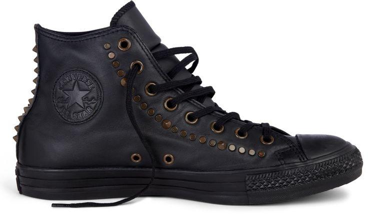 """Černé kožené kotníkové tenisky Converse Chuck Taylor All Star """"Rock Craftsmanship"""""""
