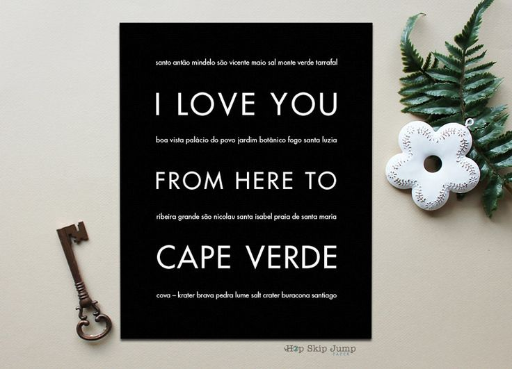 I Love You From Here To CAPE VERDE art print