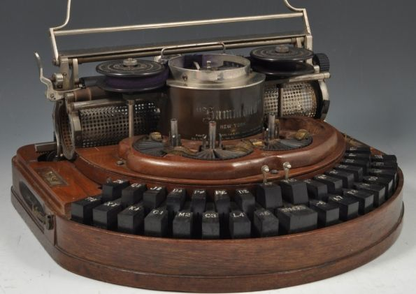 This Hammond typewriter was acquired by Lewis  Carroll (real name Charles Lutwidge Dodgson) in May 1888.