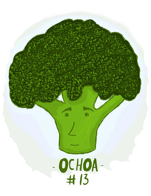 Ochoa Mundial Ilustrado by Raul Serrano, via Behance