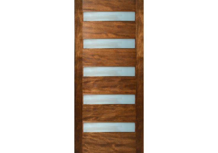 """Quinque - 5 Rectangle Lite Door with Laminate Glass (1-3/4"""")"""