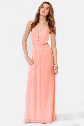 Peach maxi dress