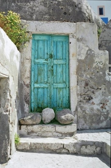 Vakantie sfeer buiten deur Door gaia