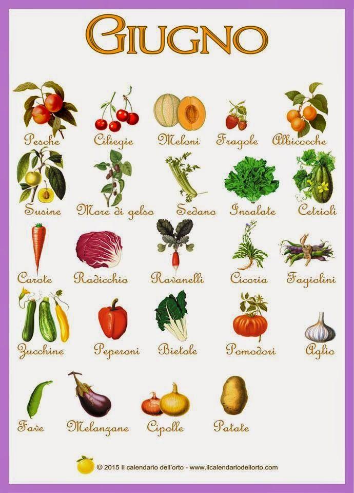 giugno verdura di stagione