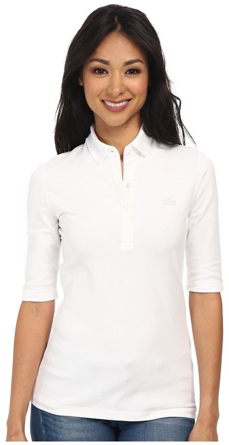 $95, Lacoste Half Sleeve Slim Fit Stretch Pique Polo Shirt. Sold by Zappos.