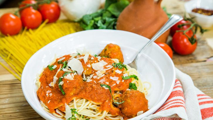 Spaghetti with Meatballs from home and family show