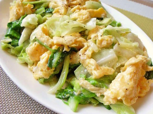 簡単!キャベツと卵だけでも美味しい中華の画像