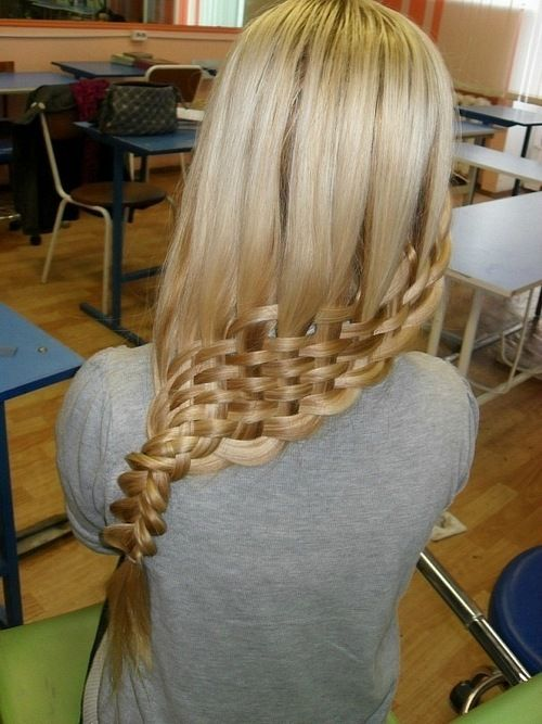 basket weave - the effect would be cooler if they started higher up