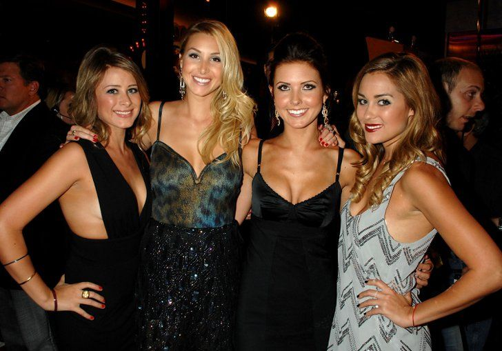 Pin for Later: Blast From the Past: The Casts of Laguna Beach and The Hills  Lo Bosworth, Whitney Port, Audrina Patridge, and Lauren Conrad got together for a photo op at the 2007 MTV VMAs.
