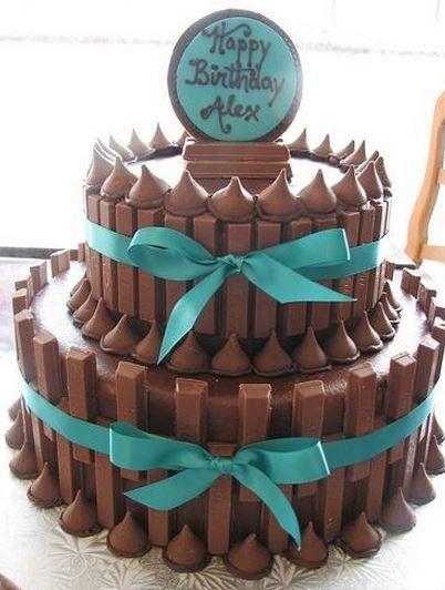 Kit Kat rocket cake