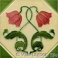 Art Nouveau Ceramic Tile-Historic Reproduction Tile