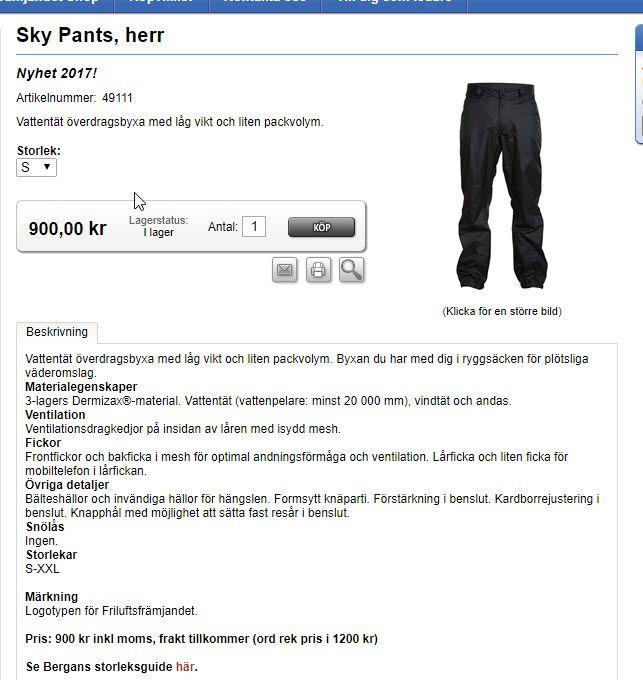Överdragsbyxa http://friluftsframjandet.jetshop.se/sky-pants-herr-p-957-c-216.aspx