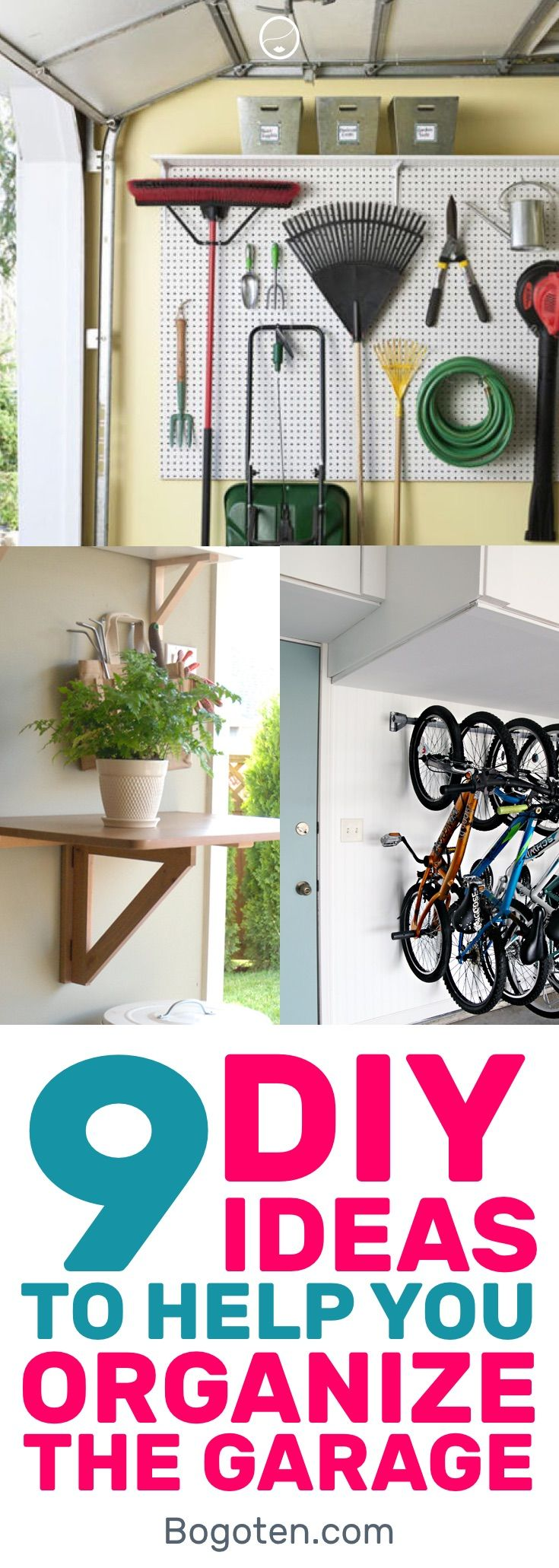 Great DIY Garage Organization ideas to help keep things organized. Something to pin and keep an eye on for later as you organize your messy garage. #DIY #HomeDecor #Organization