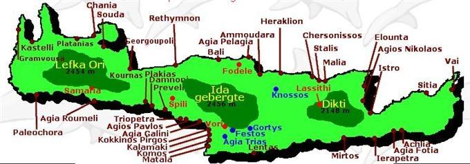 geografie van Kreta