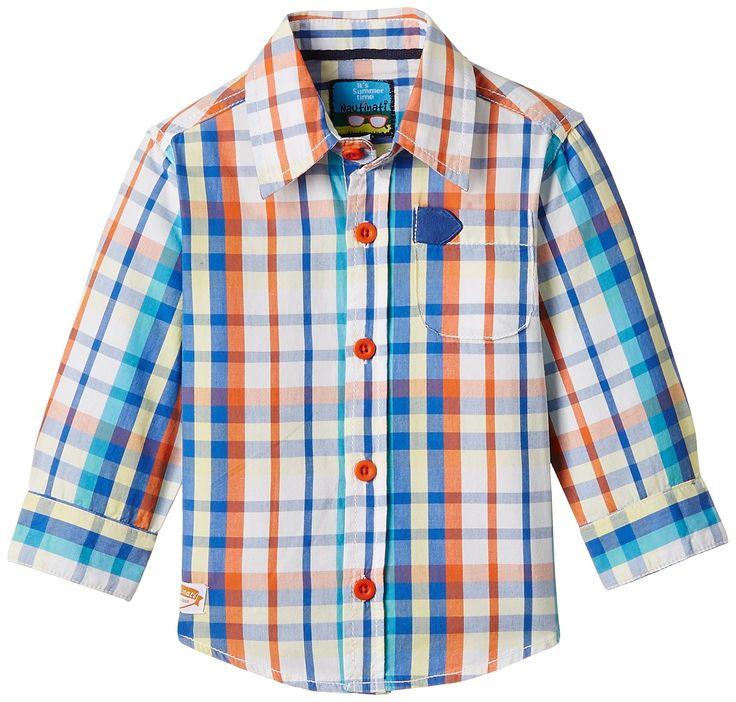 Nauti Nati Multi Color Checkered Shirt For Boys #Multicolor #Checks #KidsFashion