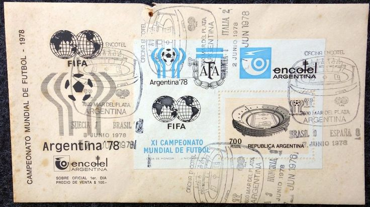 First Day Cover Marking Four Matches 1978 Argentina FIFA World Cup Soccer  | eBay