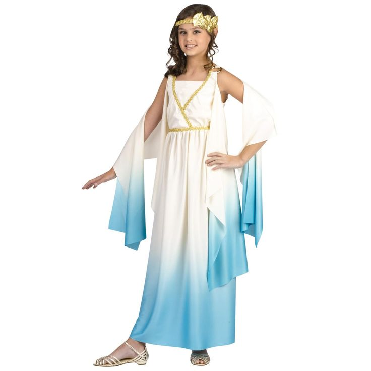 artemis girls costume. greek goddess child costume artemis girls