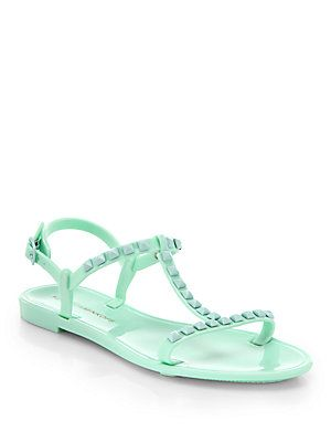 Rebecca Minkoff Sava Studded Plastic Sandals