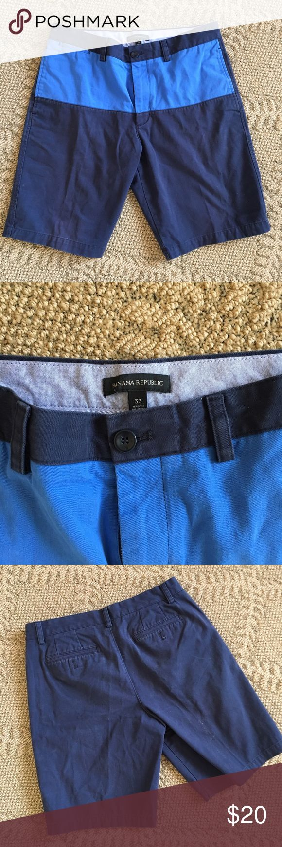 ➡️Banana Republic shorts⬅️ Color blocked mens Banana Republic shorts in size 33! Love this summer style! Banana Republic Shorts