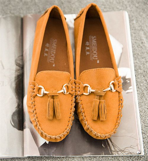 Women Loafer Shoes 2016 Fashion Spring Summer Women Boat Shoes Suede Leather Flats Woman Causal Nurse Work Driving Shoes