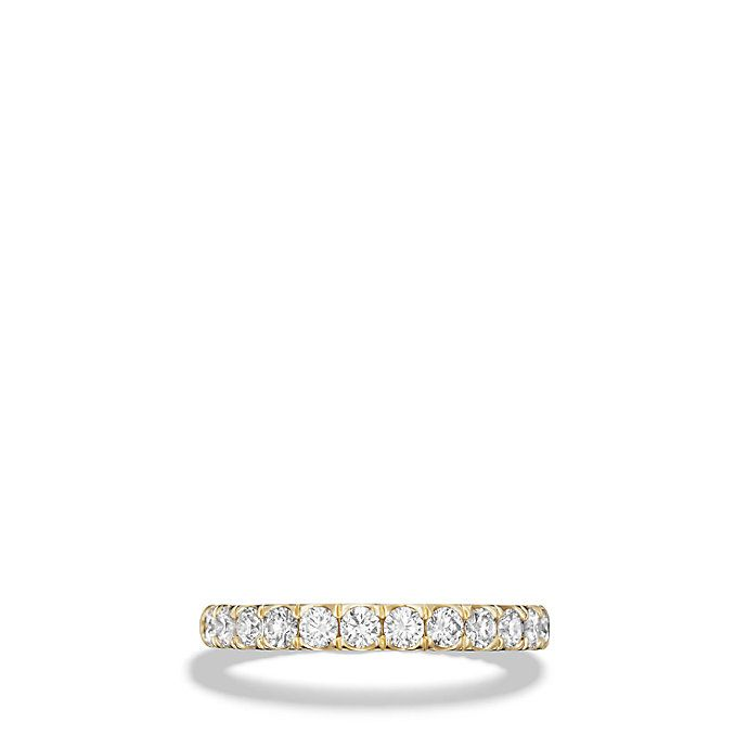 DY Eden Eternity Wedding Band with Diamonds in 18K Gold, 2.8mm