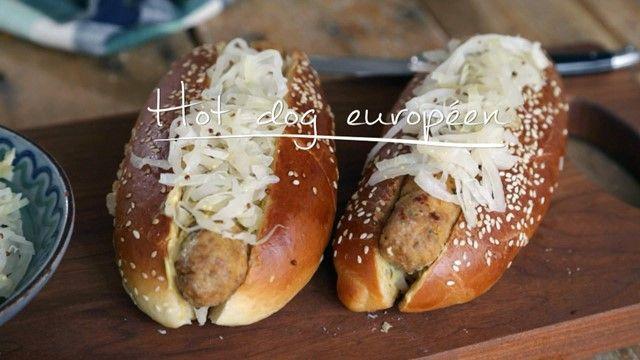 Hot dog européen
