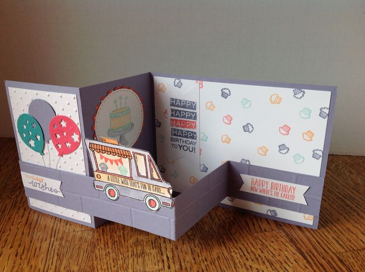 Tasty truck, cupcakes, birthday, Stampin' Up,
