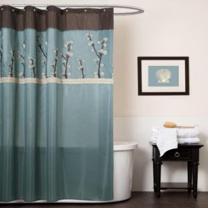 Teal And Chocolate Brown Shower Curtains