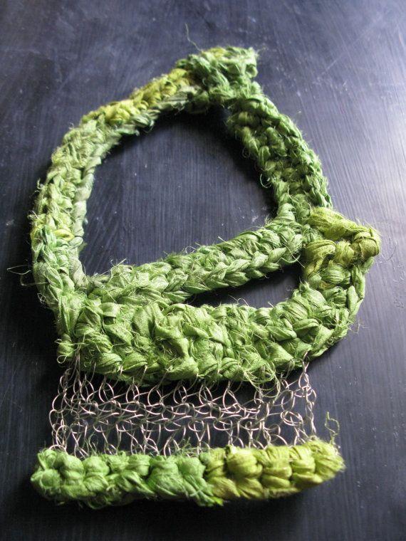 Wire crochet necklace www.wearitcrochet.com