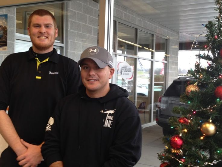 Peter Clement of Tire World on Riverbend Way with Staff Sergeant Chad Collins.  Finishing up our Toys For Tots collection for 2015