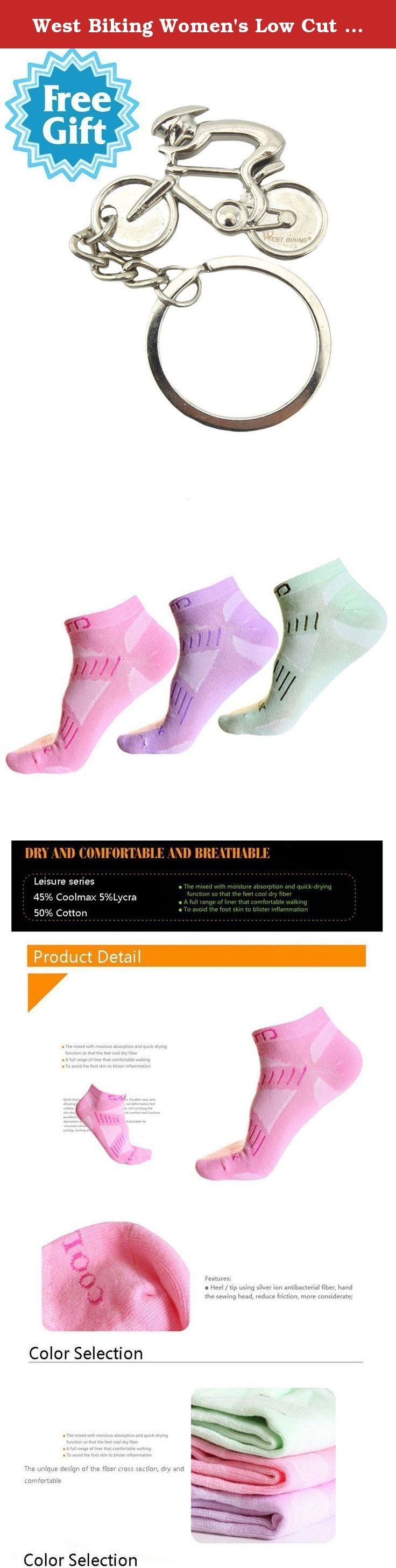 West Biking Women's Low Cut Cycling Socks Running Hiking Gym Training Socks. Sports Socks Details: Size: M (US 3.5-7/UK 2.5-6) Suitable Crowd: Women Color: Pink, Purple, Light Green Function: Moisture breathable, antibacterial deodorant Fabric: 45%COOLMAX/50%COTTON/5%LYCRA Application: Cycling, Hiking, Outdoor Sports, or every day socks. Features: Cool and comfortable breathable mesh, accelerating sweat Professional ankle socks bow weave makes feet more comfortable High density of the…