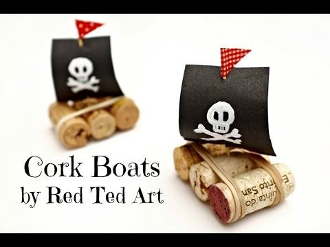 Easy (Pirate) Cork Boats - Red Ted Art's Blog : Red Ted Art's Blog