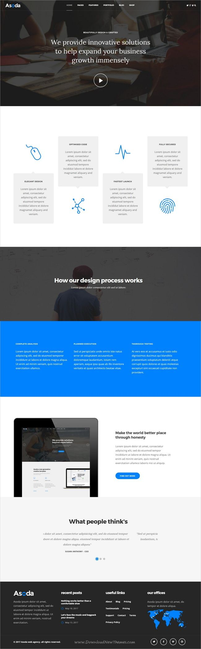 Asoda is clean and modern design multipurpose #HTML5 template for stunning #corporate website with 10+ niche homepage layouts download now > https://themeforest.net/item/asoda-multipurpose-responsive-website-template/19896979?ref=Datasata