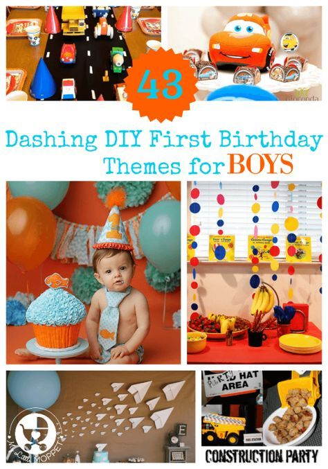 43 Dashing DIY Boy First Birthday Themes  My Little Moppet