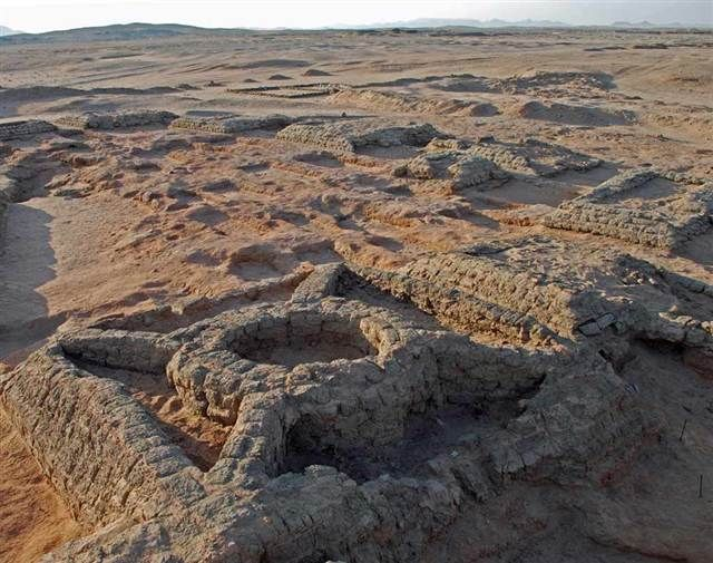 At least 35 small pyramids, along with graves, have been discovered clustered closely together at a site called Sedeinga in Sudan. (via NBC News; photo via Vincent Francigny / SEDAU)