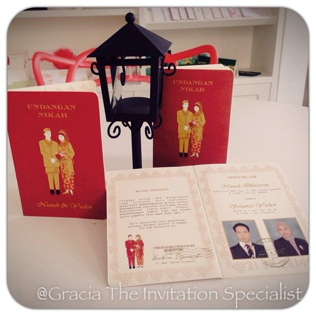 Buku Nikah Invitation #unique #married #wedding #party #couple #invitation #softcover