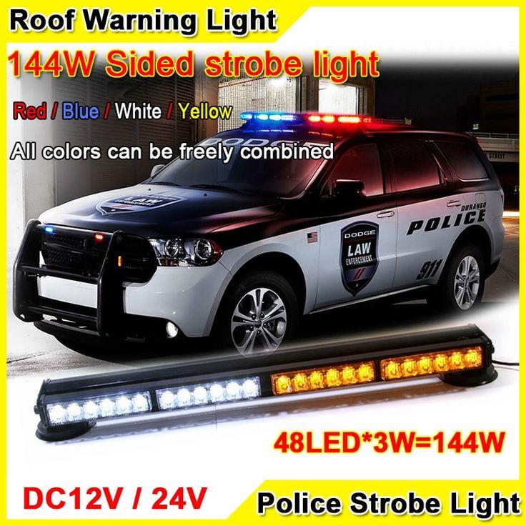107.46$  Buy here - http://ali9yx.worldwells.pw/go.php?t=32356995766 - 144W Super Bright Car Roof Led Strobe Lights Bar Ambulances Fire Trucks Warning Light 12V/24V 24inch Red Blue Led Police Lights