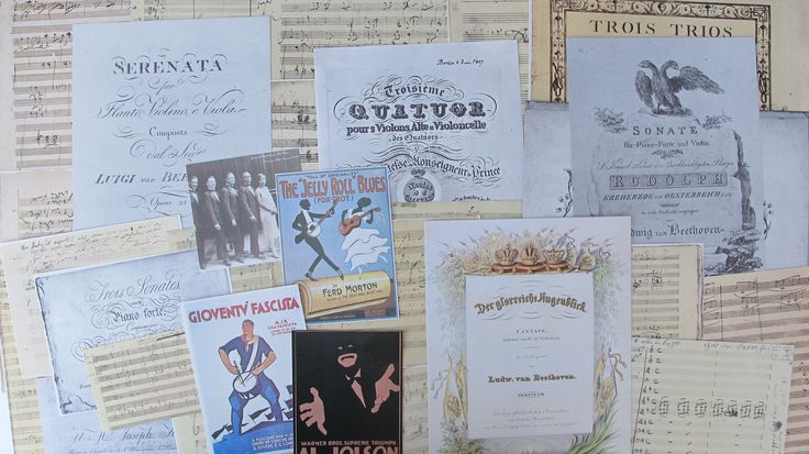 music themed ephemera pack for junk journals, music themed mixed media supply for smash books, collage, altered art - music themed ephemera by BurkeSevenVintage on Etsy https://www.etsy.com/ca/listing/554881935/music-themed-ephemera-pack-for-junk