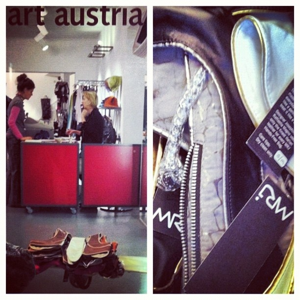 MRJ got into its first store in Vienna, Austria! Now the bags are available for people to try them on at Art Up in the first district! #Fashion #Vienna #Austria