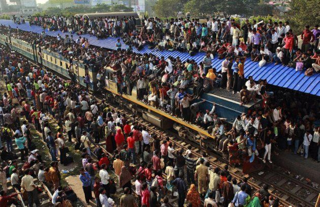 The daily struggles of the people at a train station in Bangladesh.