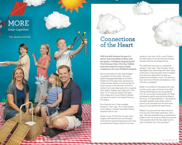 St. Louis Children's Hospital's Annual Report / Healthcare Marketing / Hospital Marketing