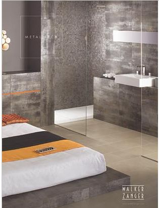 Metallic Tiles Bathroom Google Search
