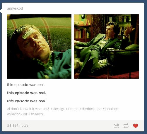 """Crazy spoilers, but so true.   Tumblr Reacts To """"Sherlock's"""" """"The Sign Of Three"""""""