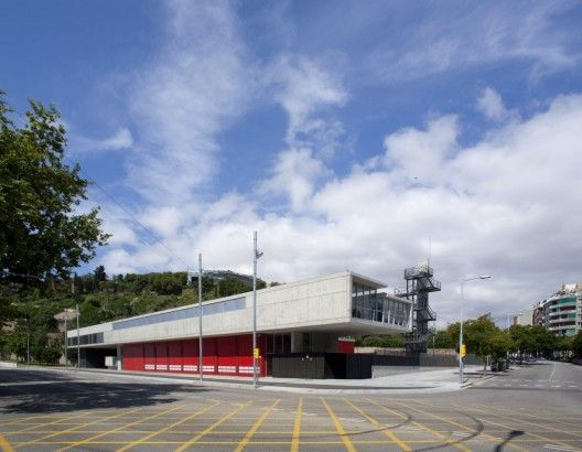 coo public arch.  Always a sucker for a good fire station. Montjuic Fire Station / Manuel Ruisánchez arquitecto
