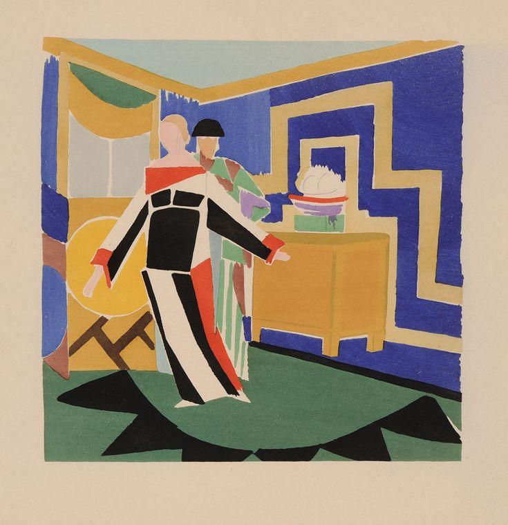 """llustration for, """"Sonia Delaunay ; Ses Peintures, Ses Objets, Ses Tissus Simultanés, Ses Modes"""" Paris, 1925"""