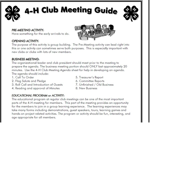 Kansas 4-H Club Meeting Guide