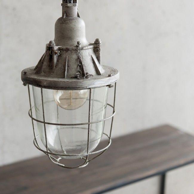 Voor de keuken --> Industriële hanglamp Kobe - grijs | Deze oude fabriekslamp is gered uit een Berlijnse fabriek