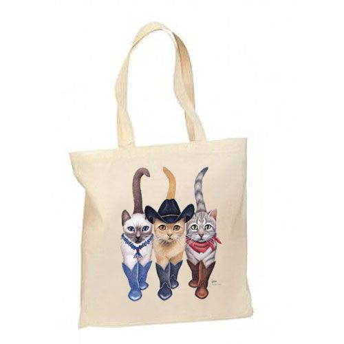Western Cowboy Cats – Lightweight Tote