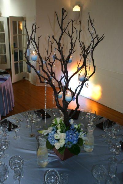 11 best manzanita branch centerpiece images on pinterest branch centerpieces manzanita - Table made from tree branches ...