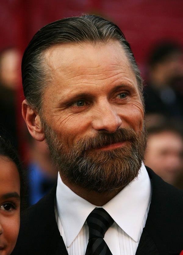 Wondrous Perfect Sideburns Into Beard Viggo Mortensen Celebrity Hairstyle Inspiration Daily Dogsangcom